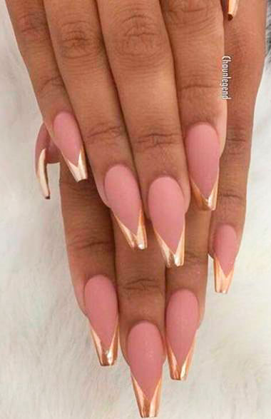 CUTE COFFIN NAILS  SHAPED