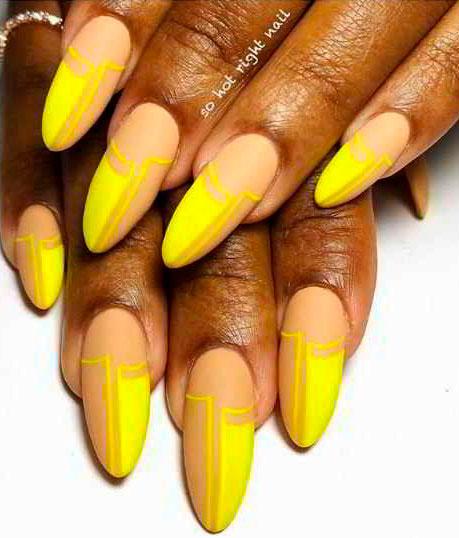 pretty yellow acrylic nails