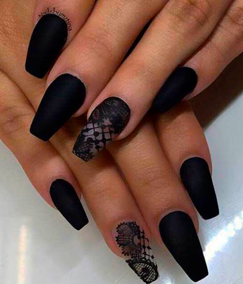 coffin nails on active length nails