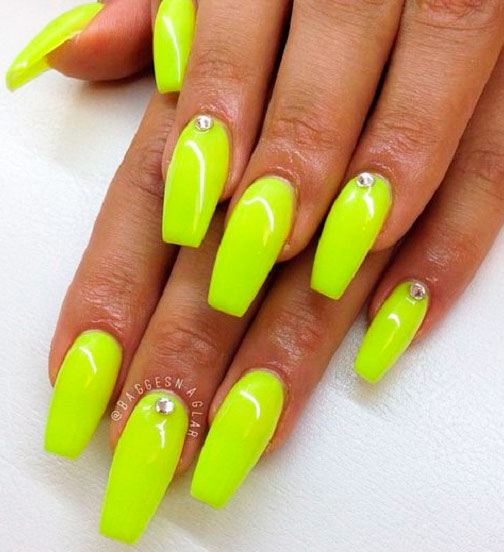 Cool Ideas of yellow nails images