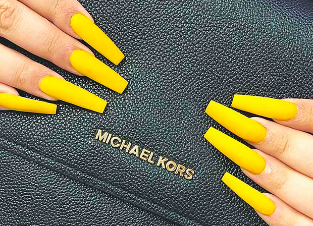 Ideas of yellow nails