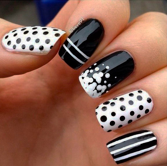 black and white nails yelm