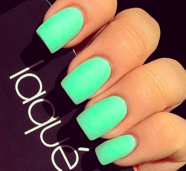 mint green nail designs pictures