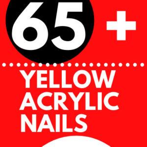 GORGEOUS YELLOW ACRYLIC NAILS