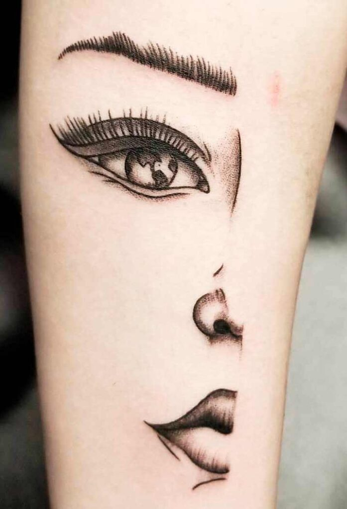 portrait Tattoos For women on arm