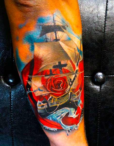 Stunning rose shoulder tattoo male for try