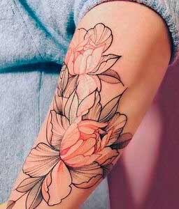 flower art body art design ideas for women