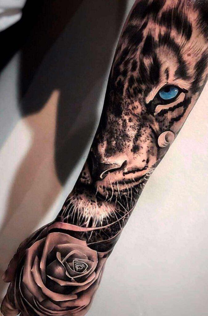 wild animals arm tattoo design ideas