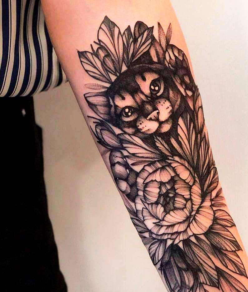 arm tattoo design for girl