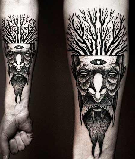 arm tree tattoos for guys design ideas