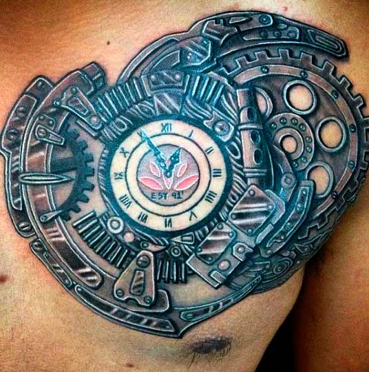 mechanism tattoo designs simple for men