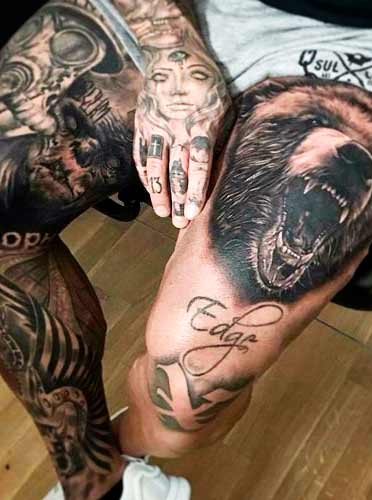 wild animals full sleeve tattoos for guys