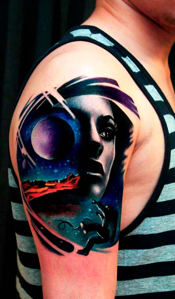 best shoulder tattoos for guys colorful ideas