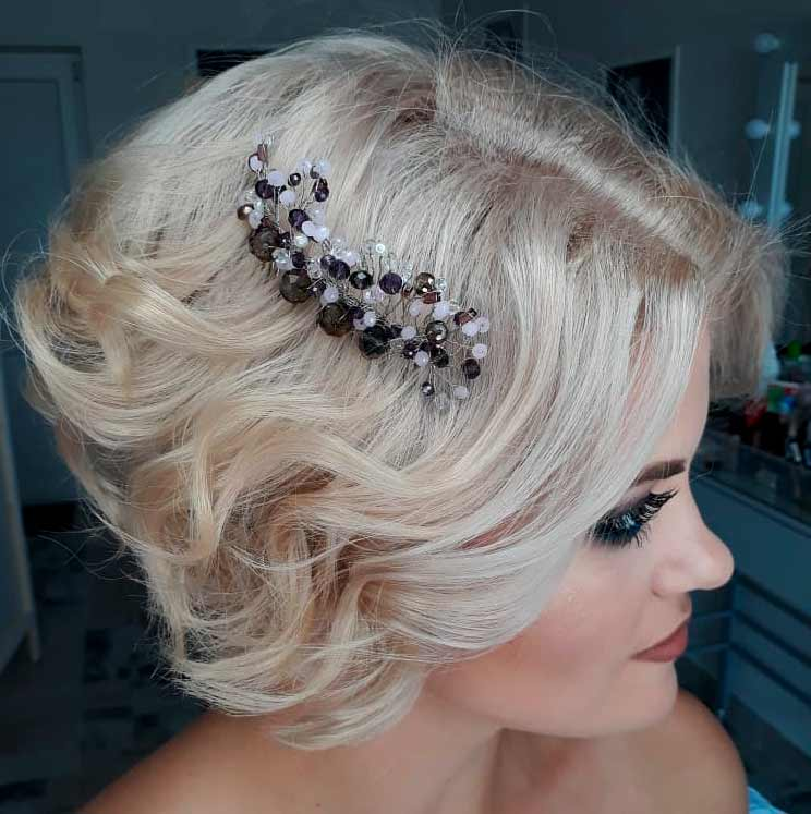 wedding hair to side