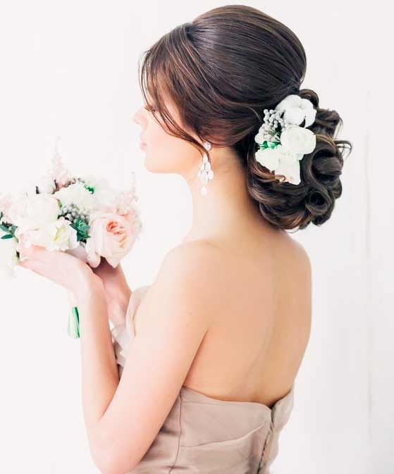 simple wedding updo  images
