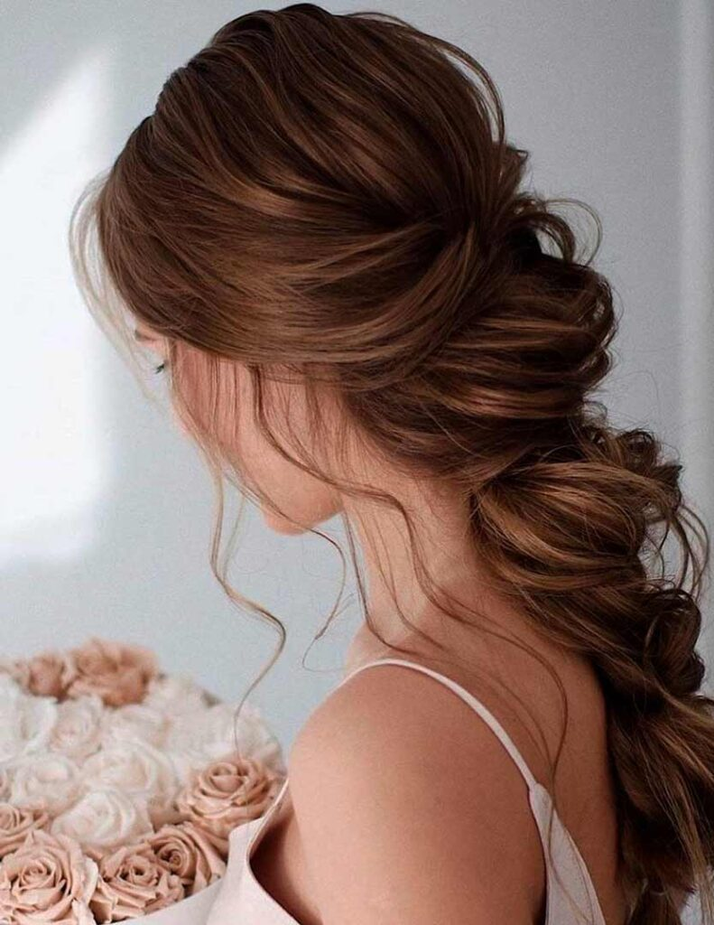 long hairstyles wedding bridesmaid