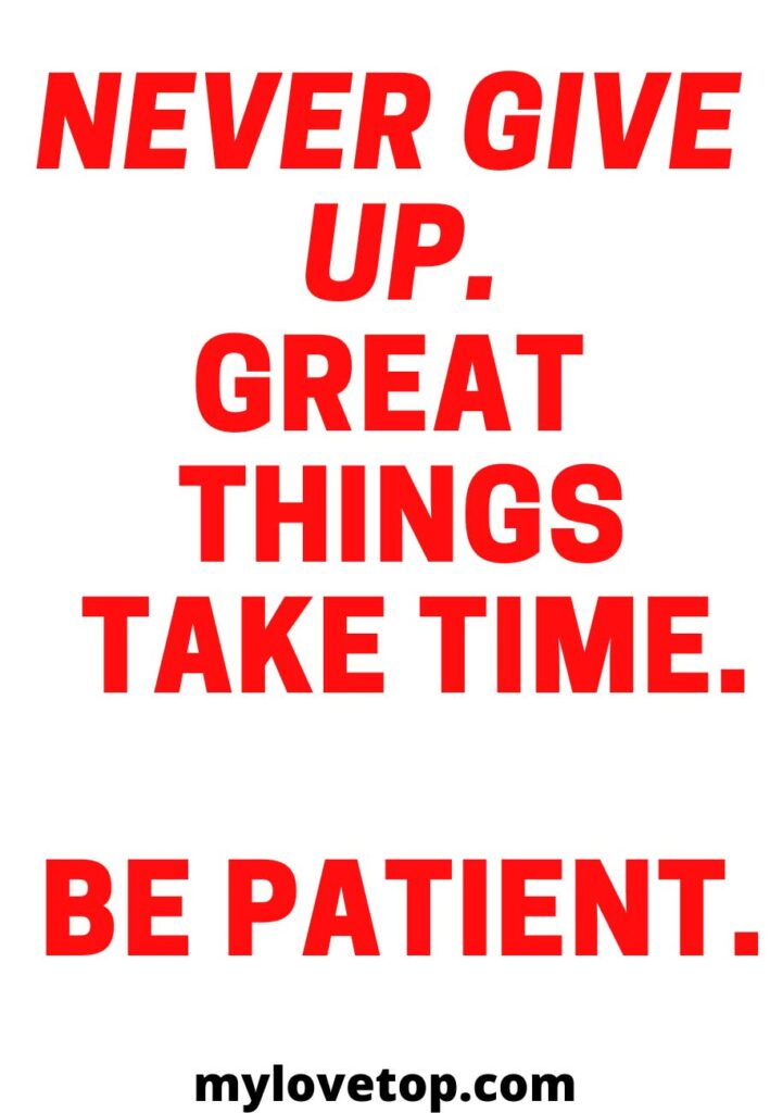 ime. Be patient.