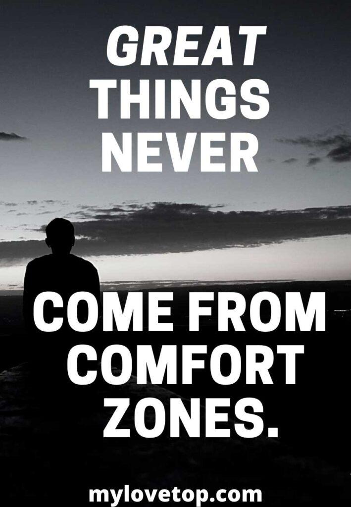 comfort zones.