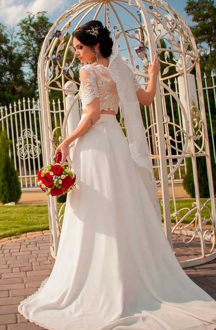 long wedding dress white