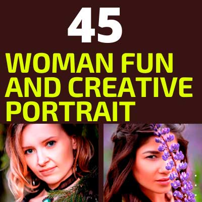 Woman Fun and Creative Portrait