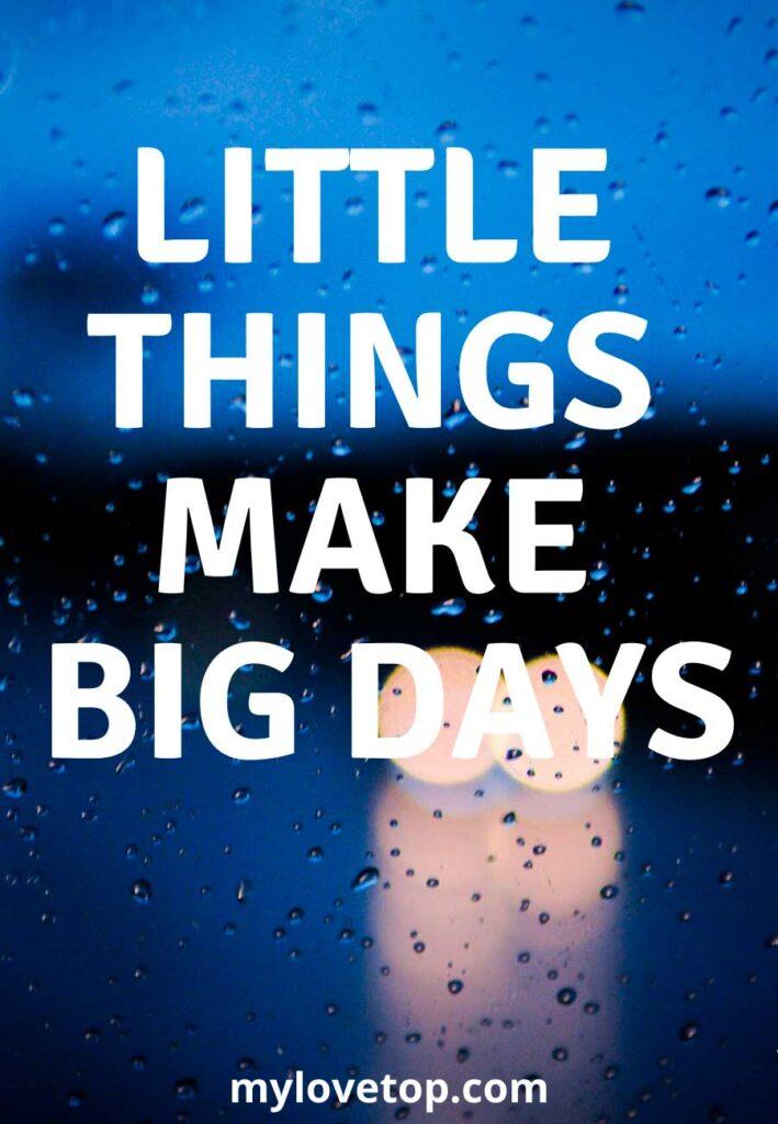 make big days.