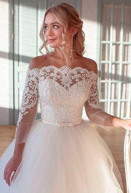 best white sweetheart mermaid wedding dress