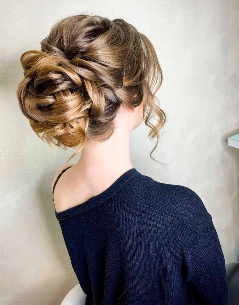 Elegant  Braided Updo For Special Occasions
