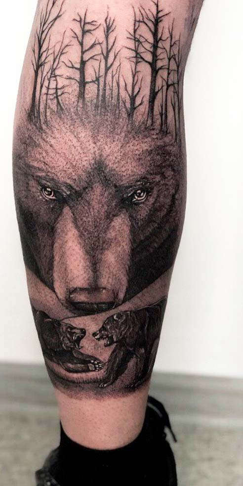 Wild Life Leg Tattoo ideas