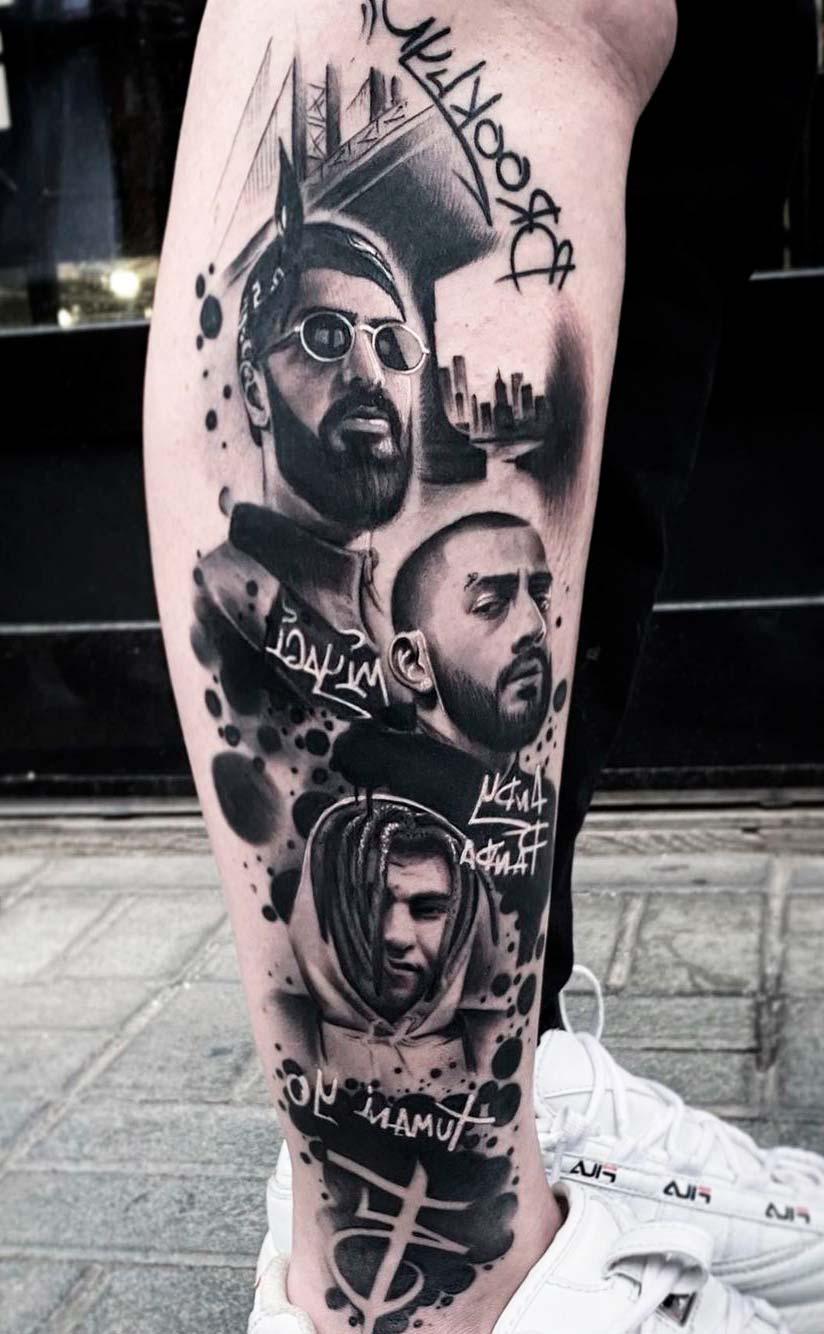 Cool Portrait Tattoos For Men Realistic Design Idea