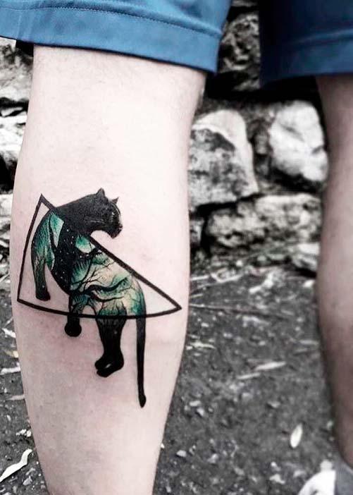 Black Panther tattoos ideas on leg