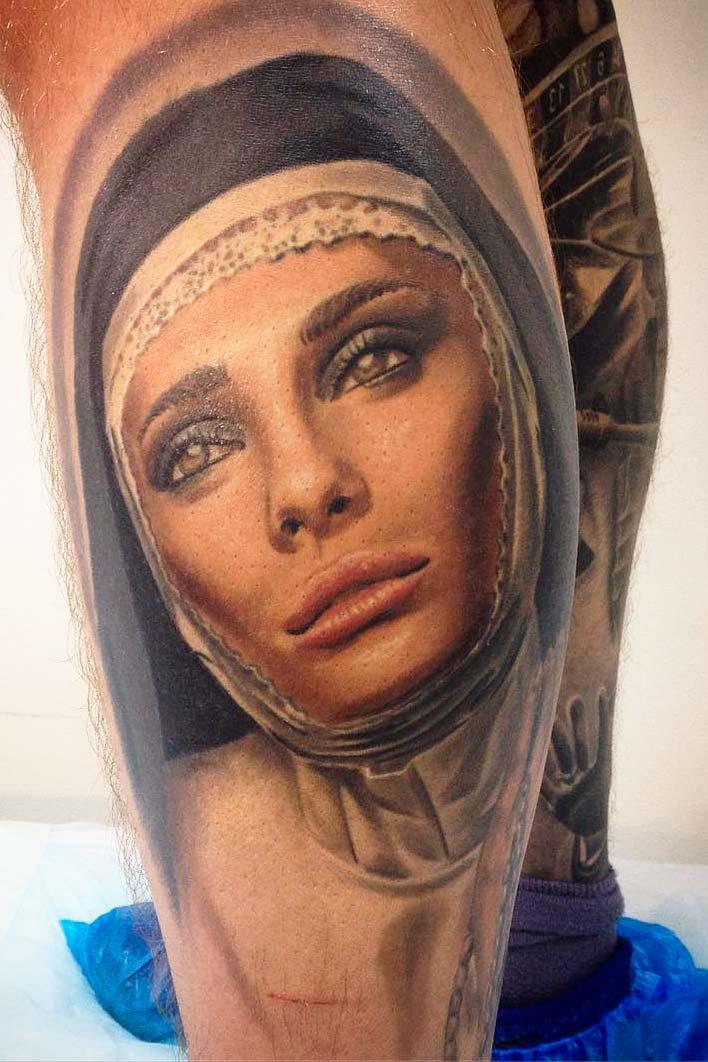 best woman portrait body art