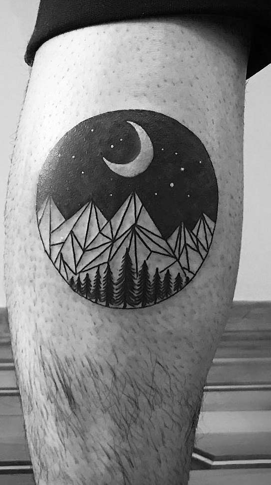 moon tattoo on leg for you now