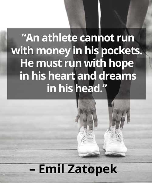 hard work quotes sports  Emil Zatopek