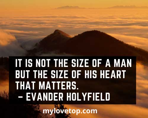 positive golf quotes Evander Holyfield