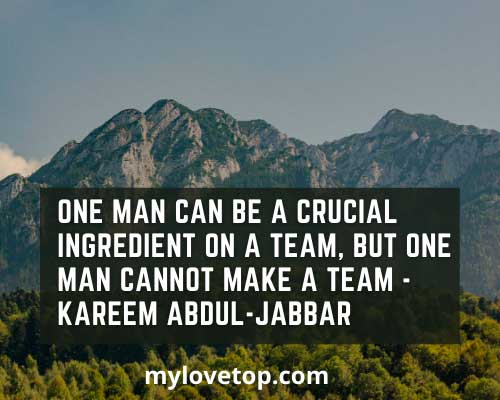 Kareem Abdul-Jabbar team quotes