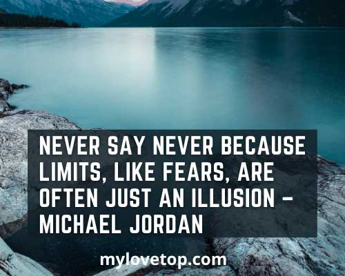 never say never sport inspirational quotes images